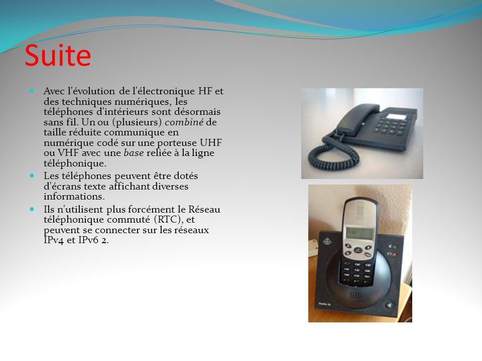 Le téléphone fixe Le téléphone se compose historiquement de 2 blocs : Un boîtier contenant les organes de transmission de la parole, très souvent un s