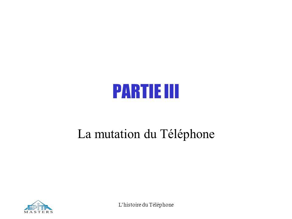 Lhistoire du Téléphone PARTIE III La mutation du Téléphone