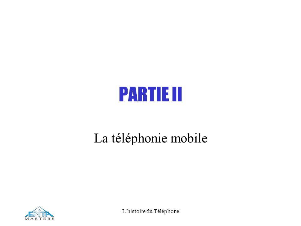 Lhistoire du Téléphone PARTIE II La téléphonie mobile