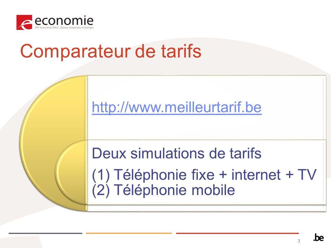 34 2)Simulation du téléphone mobile Pour faire la simulation des offres de téléphonie mobile, cliquez sur « Accueil » pour revenir en arrière et sélectionnez licône représentant un téléphone mobile.