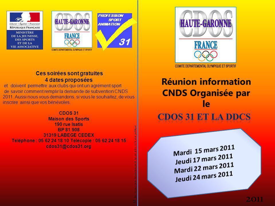 2011 M Par respect pour lenvironnement, ne pas jeter sur la voie publique. Ces soirées sont gratuites 4 dates proposées et doivent permettre aux clubs