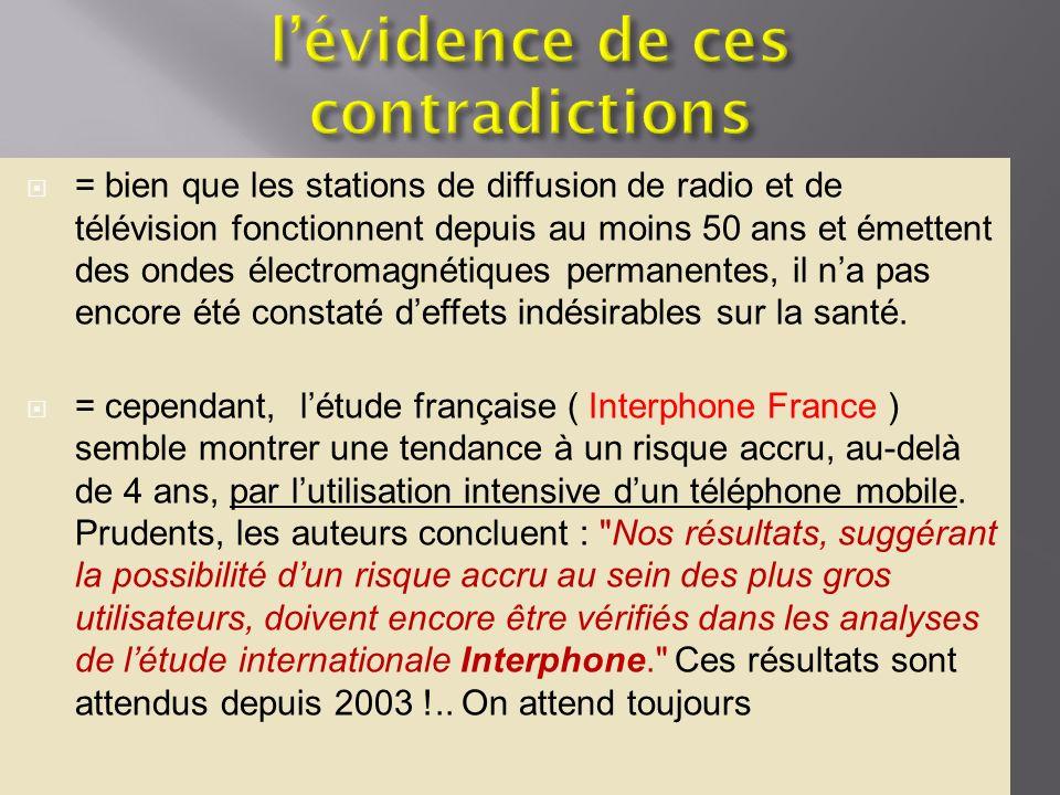 = bien que les stations de diffusion de radio et de télévision fonctionnent depuis au moins 50 ans et émettent des ondes électromagnétiques permanente