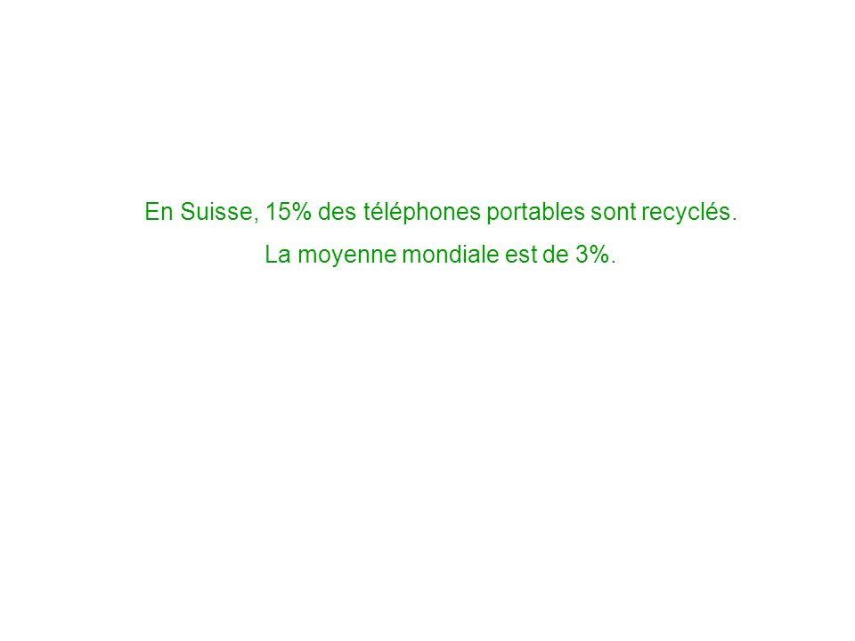 En Suisse, 15% des téléphones portables sont recyclés. La moyenne mondiale est de 3%.