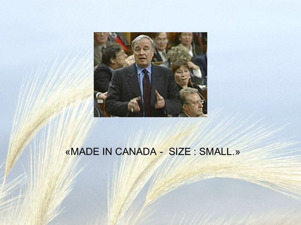 «MADE IN CANADA - SIZE : SMALL.»