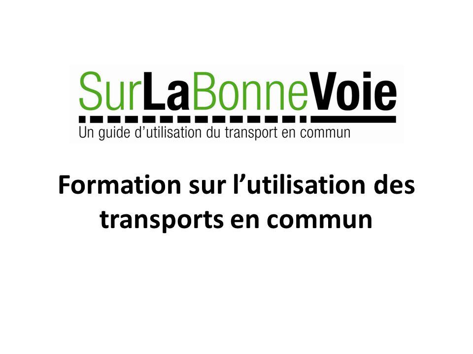 Formation sur lutilisation des transports en commun