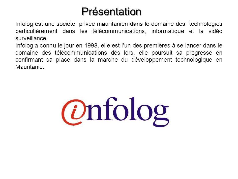 Présentation Infolog est une société privée mauritanien dans le domaine des technologies particulièrement dans les télécommunications, informatique et
