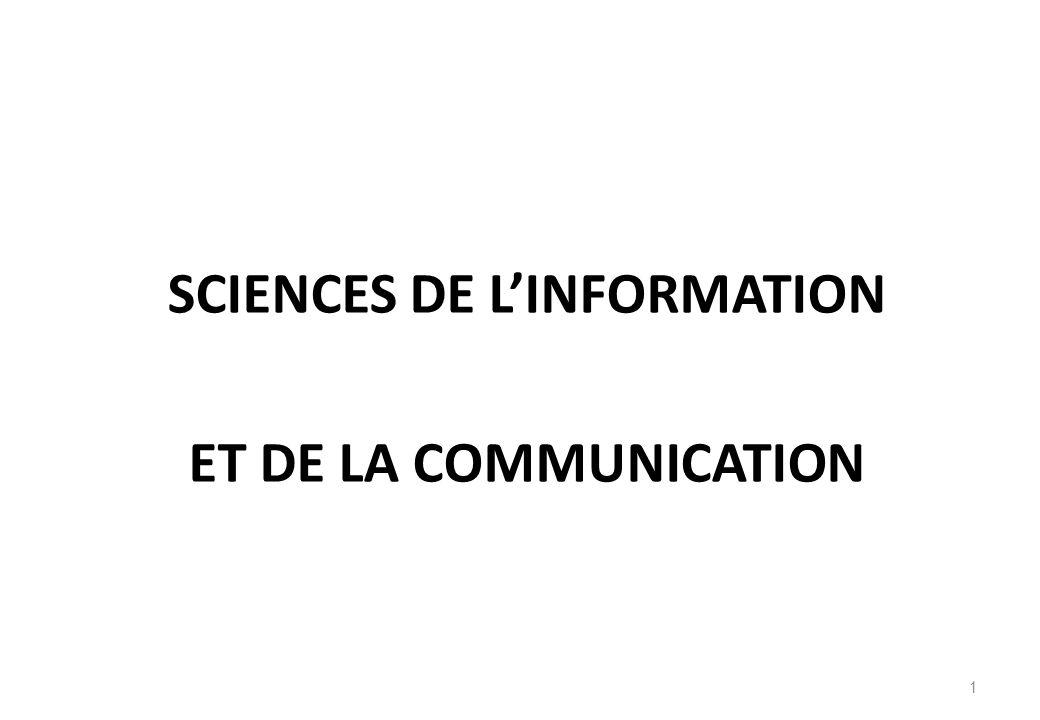 Les sciences de linformation et de la communication constituent-elles « une discipline » ou doivent-elles être considérées comme une inter- discipline.