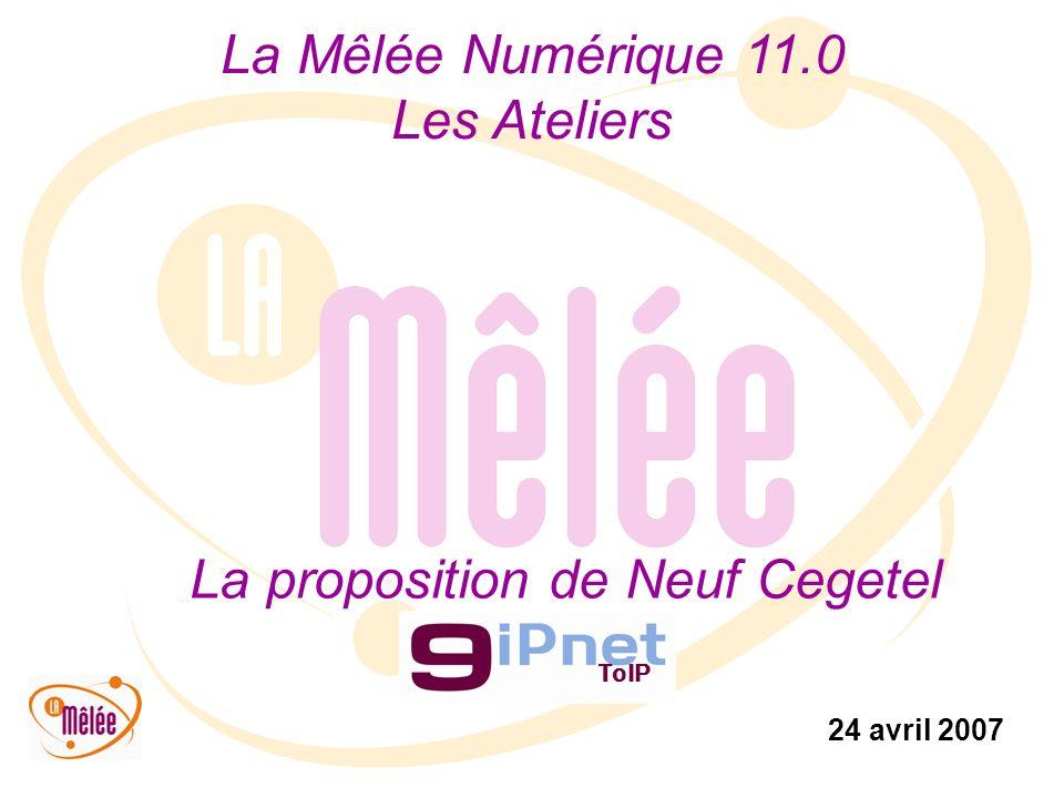 La Mêlée Numérique 11.0 Les Ateliers 24 avril 2007 La proposition de Neuf Cegetel ToIP