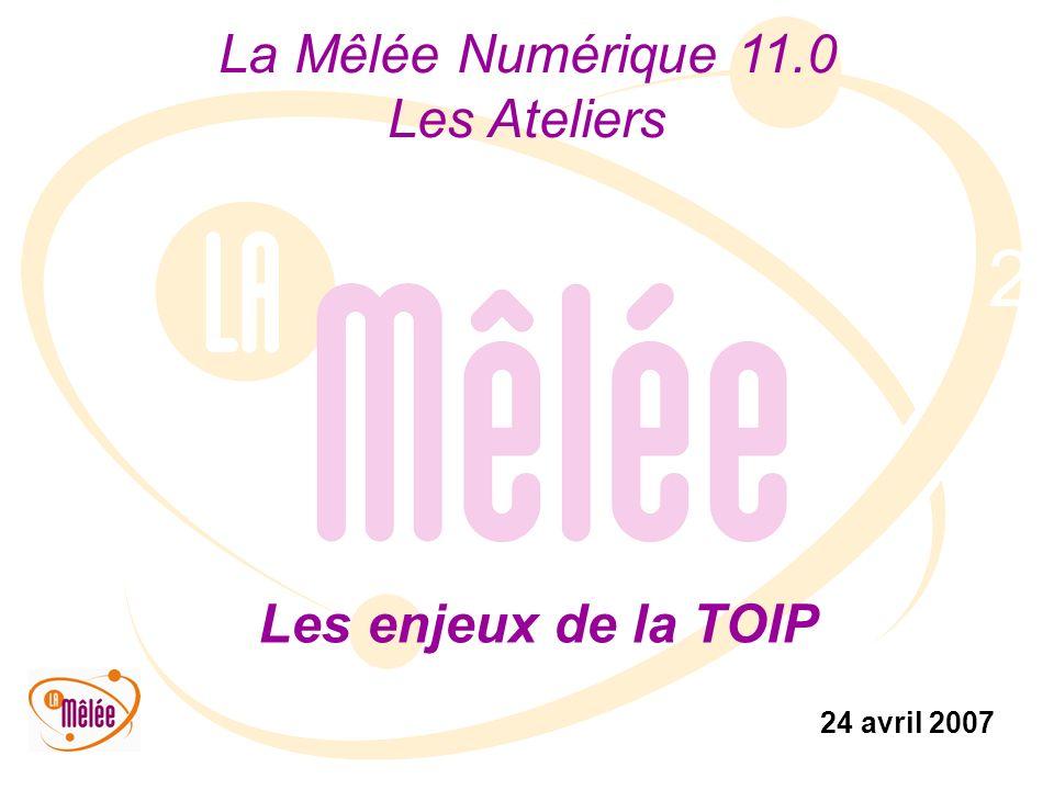 La Mêlée Numérique 11.0 Les Ateliers 24 avril 2007 2 Les enjeux de la TOIP