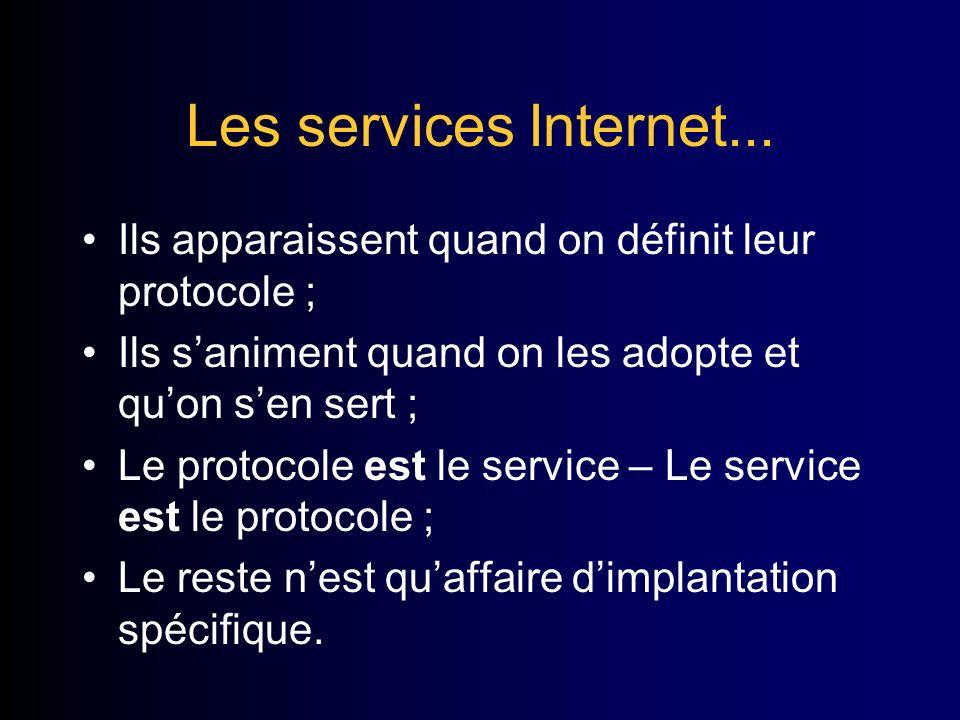 Les services Internet...