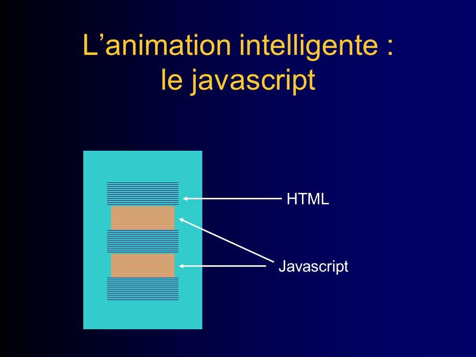 Lanimation intelligente : le javascript HTML Javascript