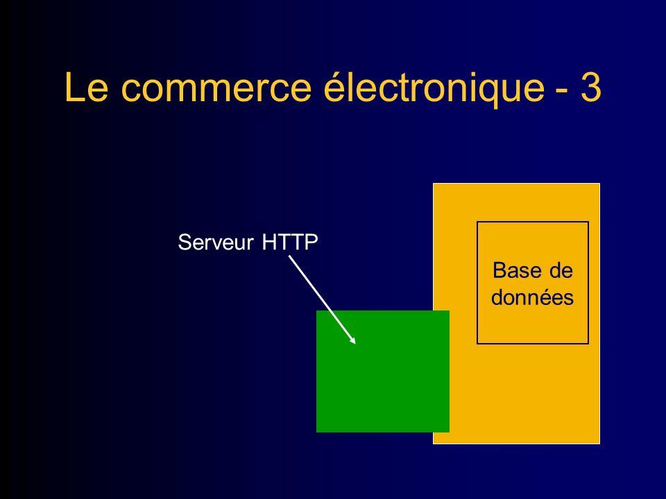 Le commerce électronique - 3. Base de données Serveur HTTP