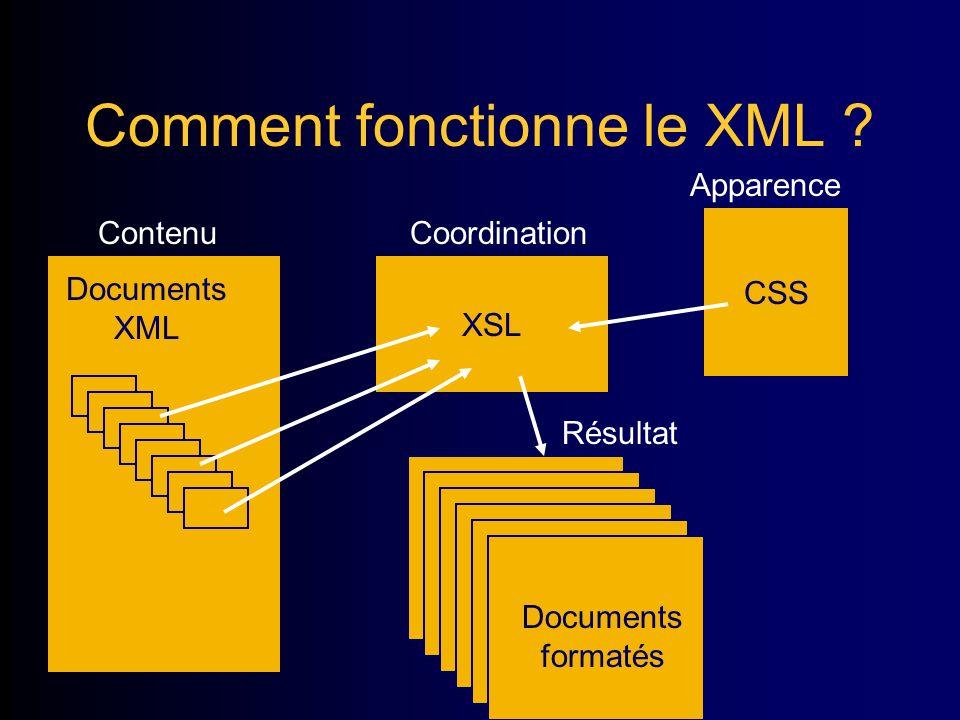 Comment fonctionne le XML .