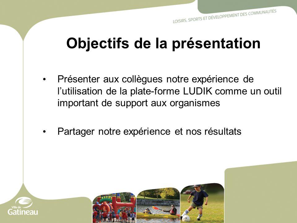 Objectifs de la présentation Présenter aux collègues notre expérience de lutilisation de la plate-forme LUDIK comme un outil important de support aux