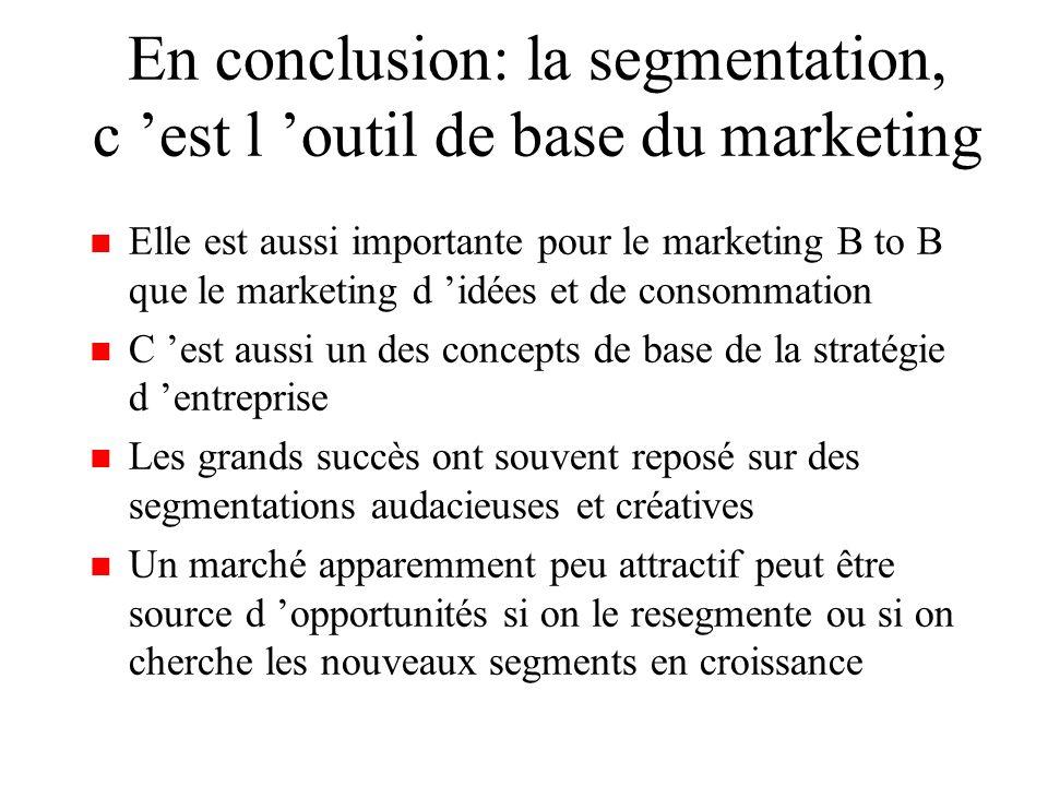 On assiste à une démassification des marchés et à l éclosion d un marketing du 3e type