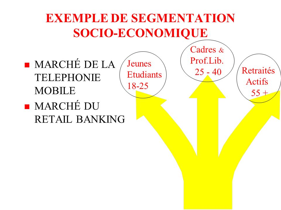 EXEMPLE DE SEGMENTATION GEOGRAPHIQUE n MARCHÉ DU CAFÉ n MARCHÉ DE LA BIÈRE FranceAllemagne GBretagne Italie Belgique