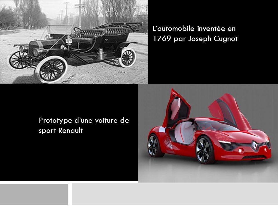 Lautomobile inventée en 1769 par Joseph Cugnot Prototype dune voiture de sport Renault