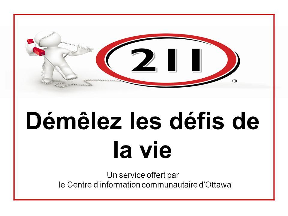 Démêlez les défis de la vie Un service offert par le Centre dinformation communautaire dOttawa
