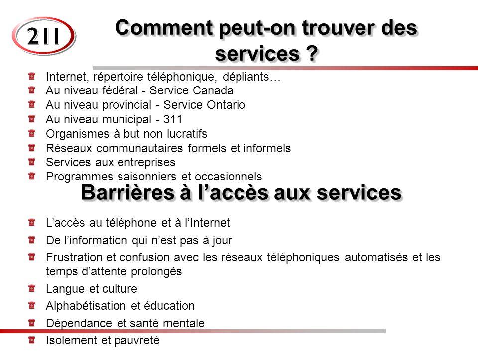 Comment peut-on trouver des services .