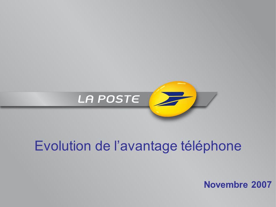 Evolution de lavantage téléphone Novembre 2007