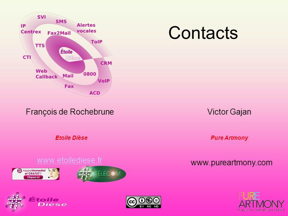 Contacts Victor GajanFrançois de Rochebrune Etoile Dièse www.etoilediese.fr Pure Artmony www.pureartmony.com