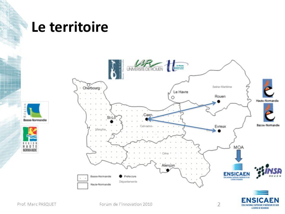 Le territoire Prof. Marc PASQUETForum de l'innovation 2010 2