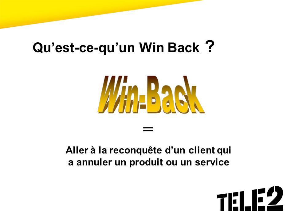 Quest-ce-quun Win Back ? = Aller à la reconquête dun client qui a annuler un produit ou un service