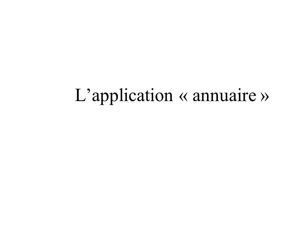 Lapplication « annuaire »