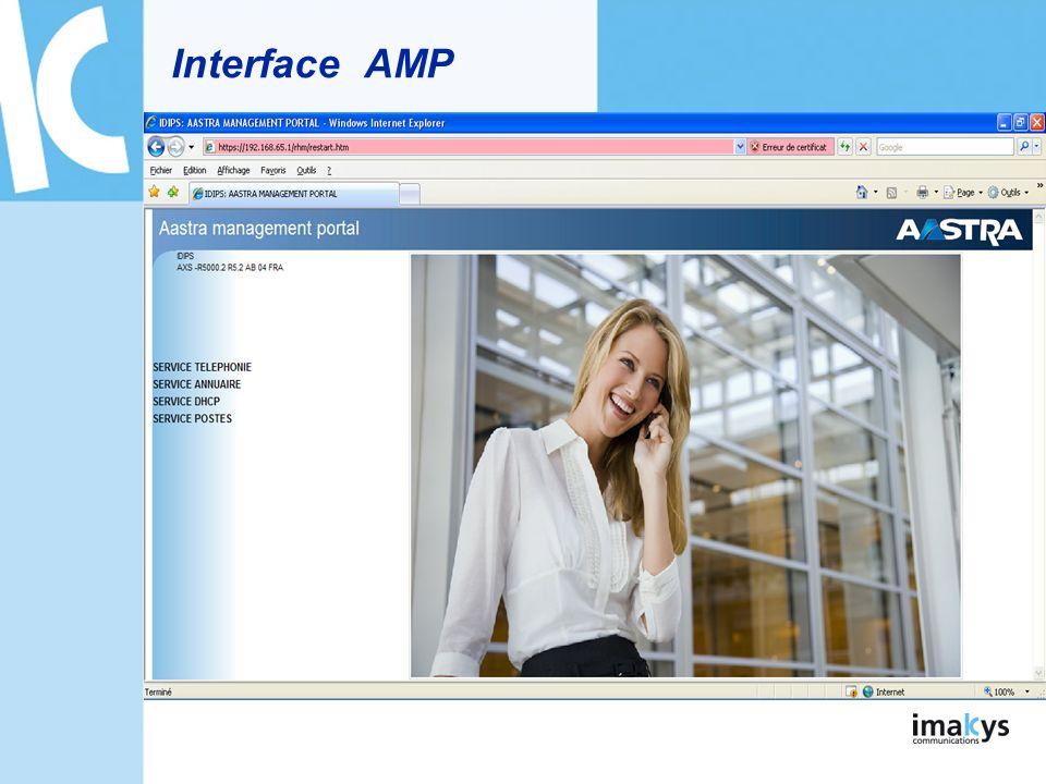 Interface de lIPBX Nom de linstallation Version Fonction de recherche Menus thématiques Plan du site