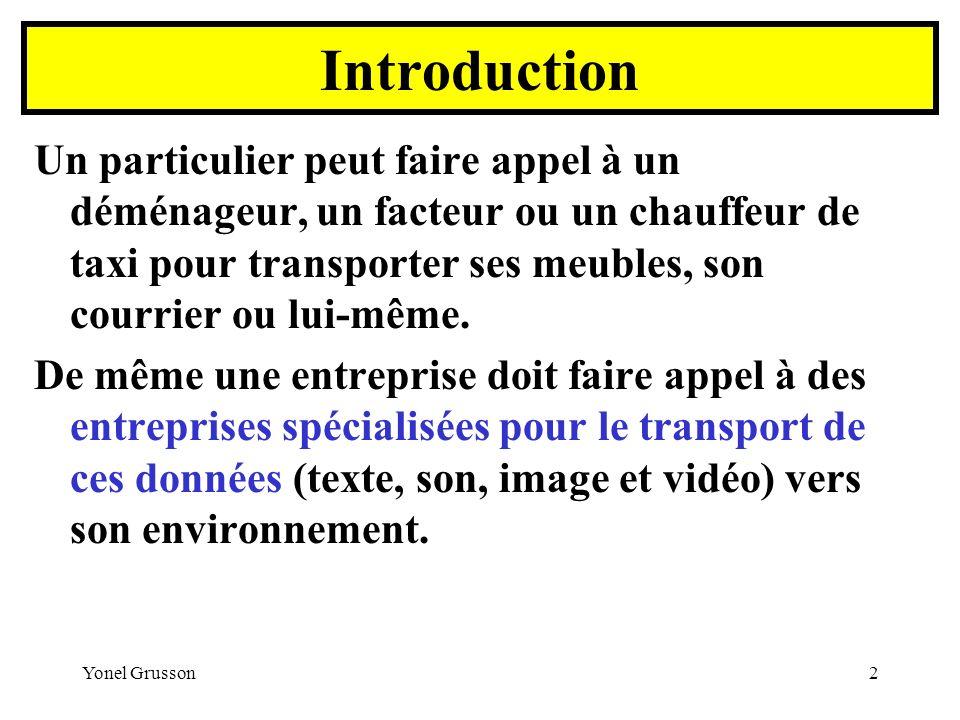 Yonel Grusson23 Le Réseau TRANSFIX Proposée depuis 1978, Transfix est l offre de liaisons spécialisées numériques de France Télécom.