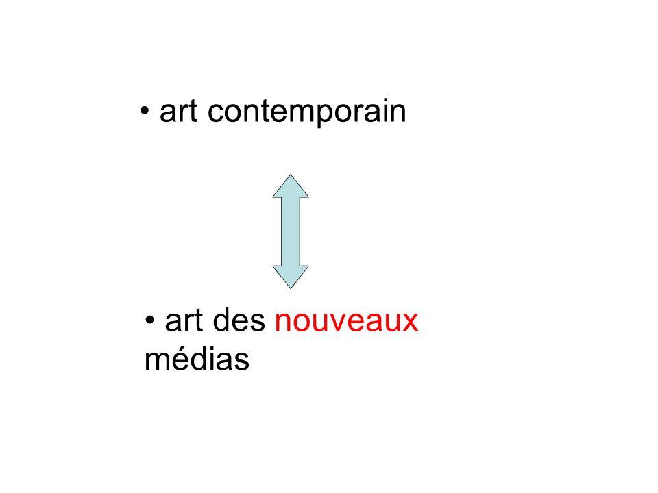 art contemporain art des nouveaux médias