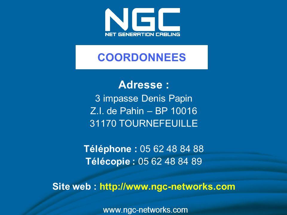 Adresse : 3 impasse Denis Papin Z.I. de Pahin – BP 10016 31170 TOURNEFEUILLE Téléphone : 05 62 48 84 88 Télécopie : 05 62 48 84 89 Site web : http://w