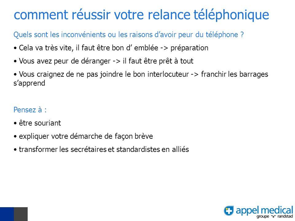 comment réussir votre relance téléphonique Quels sont les inconvénients ou les raisons davoir peur du téléphone .