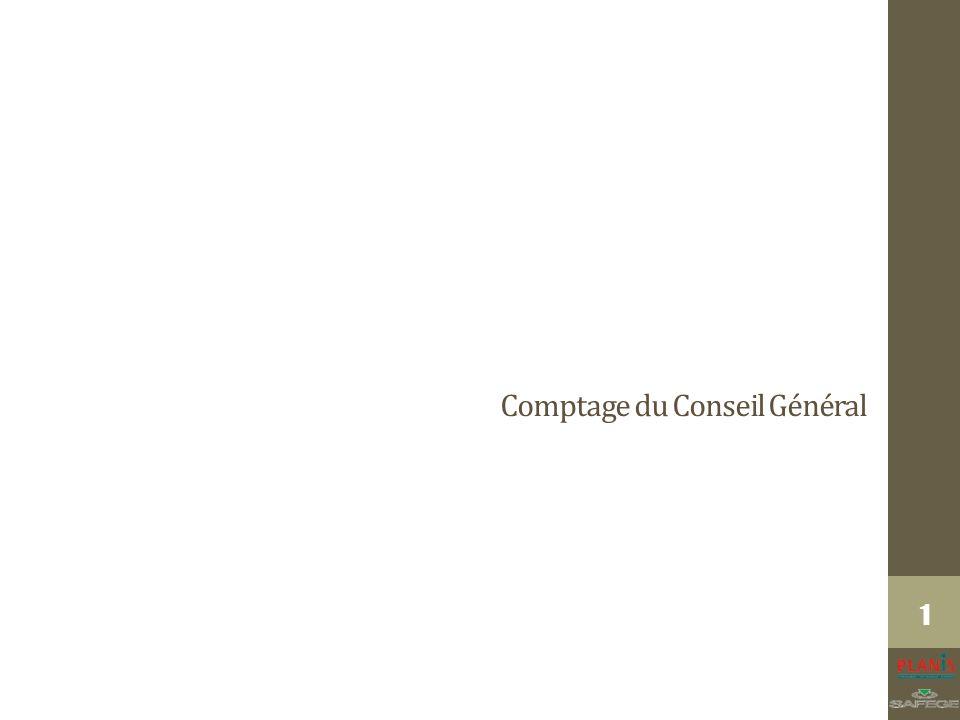Comptage du Conseil Général 1