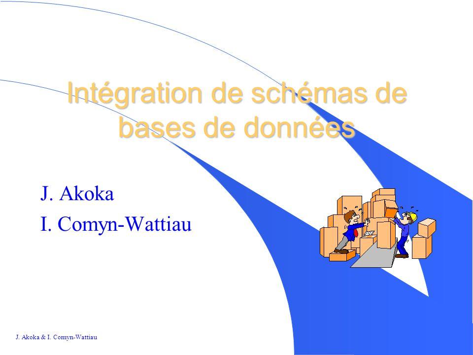 J.Akoka & I. Comyn-Wattiau 1 1 Intégration de schémas de bases de données J.