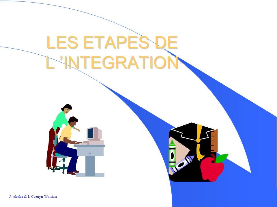 J. Akoka & I. Comyn-Wattiau 2626 LES ETAPES DE L INTEGRATION