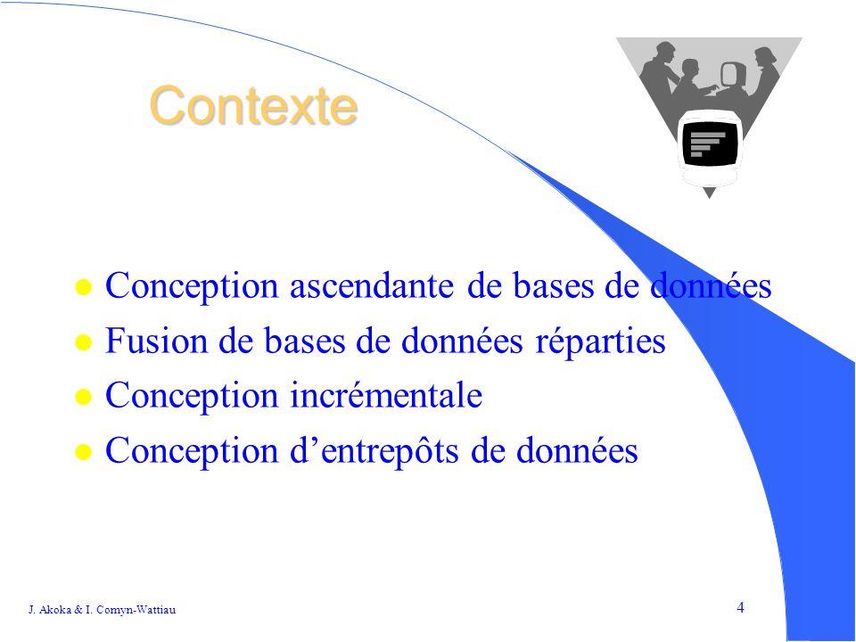 4 Contexte l Conception ascendante de bases de données l Fusion de bases de données réparties l Conception incrémentale l Conception dentrepôts de données