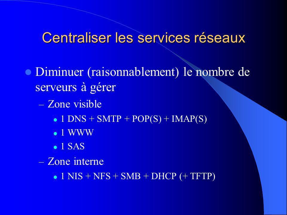 Centraliser la CPU Serveurs + terminaux X – TCO réduit – Zéro bruit – Zéro chaleur – Zéro vol – Zéro administration Serveurs + PC diskless (LTSP, Linbox) – Puissance locale, souplesse – TCO plus élevé – Problèmes de sécurité – Malgré tout plus dadministration… – Le vol redevient possible…