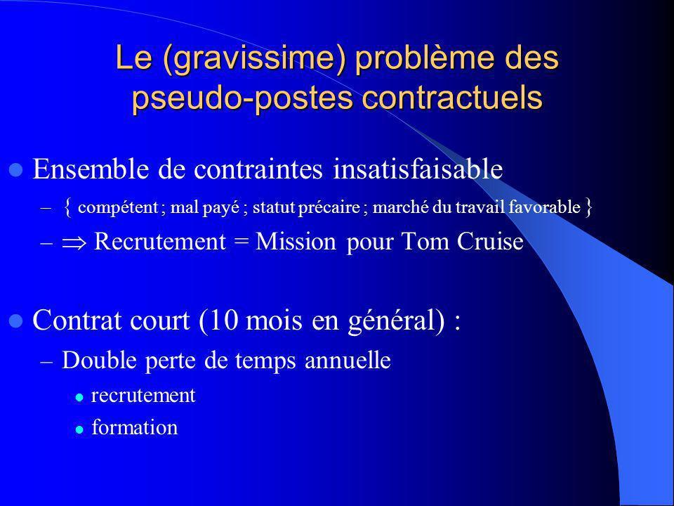 Situation de linformaticien du public : invitation au débat Le problème de fond subsiste : Nous sommes en sous-effectif criant Que peut-on faire .