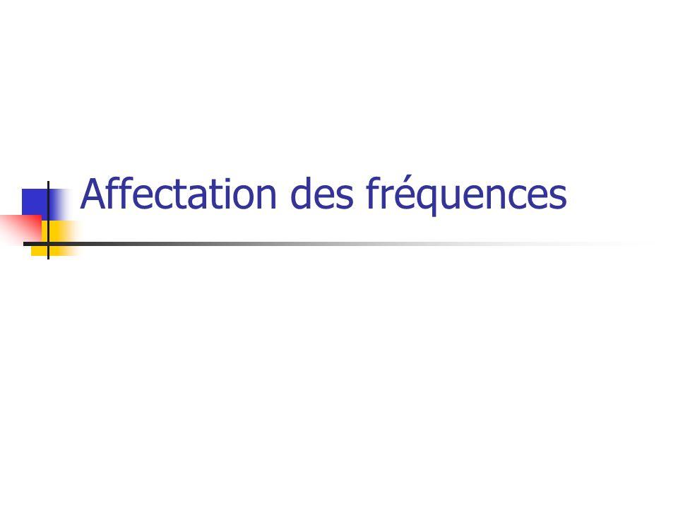 Affectation des fréquences