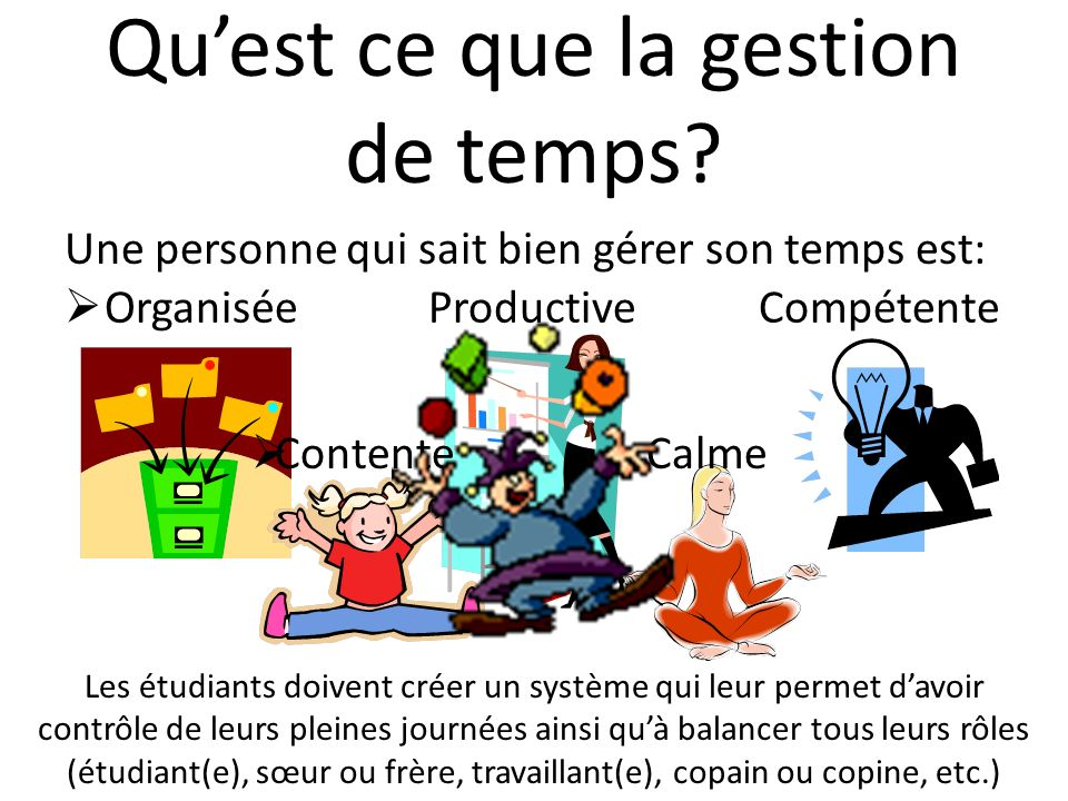 Référence MacDonald, L. (2006). Learn to Manage Your Time. San Francisco: Chronicle Books LLC.