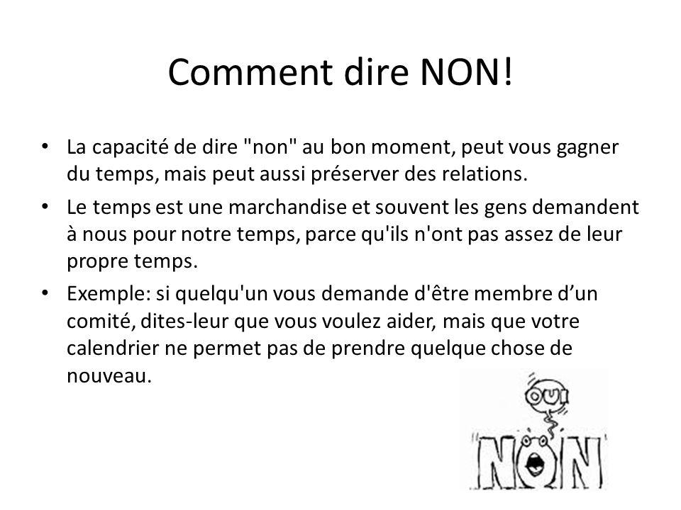 Comment dire NON! La capacité de dire