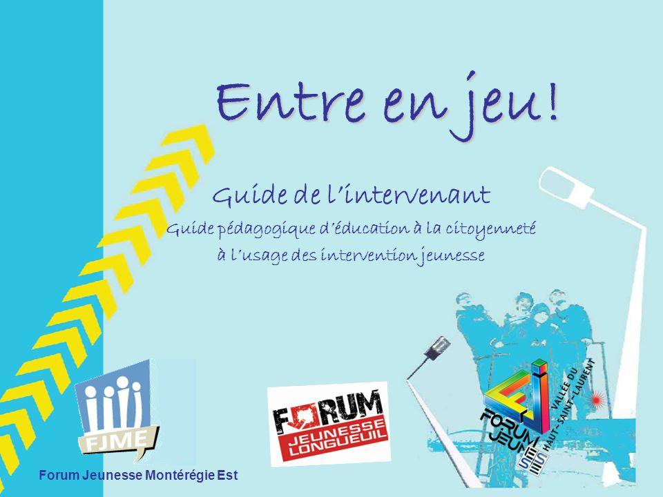 Présentation du guide 1.Présentation des Forums jeunesse 2.Pourquoi un guide.