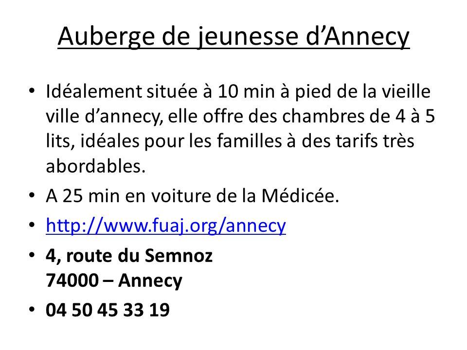 Mais aussi… La Salière (70 pour 2 pers, 92 pour 3 pers) 9km/15min Médicée Chef Lieu 74150 Sales Contact : Tel: 04 50 63 19 22 Portable: 06 19 20 52 39 Web: http://www.la-saliere.com/http://www.la-saliere.com/ B&B Le Savoisien (1 gîte pour 4 + 4 chambres à 50 pour 2) 16km/16min Médicée 98 route de Corbier 74650 CHAVANOD Contact : Tél : 04 50 69 02 95 Web: http://www.gite-savoisien.com/http://www.gite-savoisien.com/ Camping les Charmilles (mobil-homes/chalets) 9km/16min Médicée Marilyn et David Blanc 74150 VALLIERES http://www.campingsavoie.com/Sitefrs/Haute_Savoie/clients/lescharmilles/f1.html