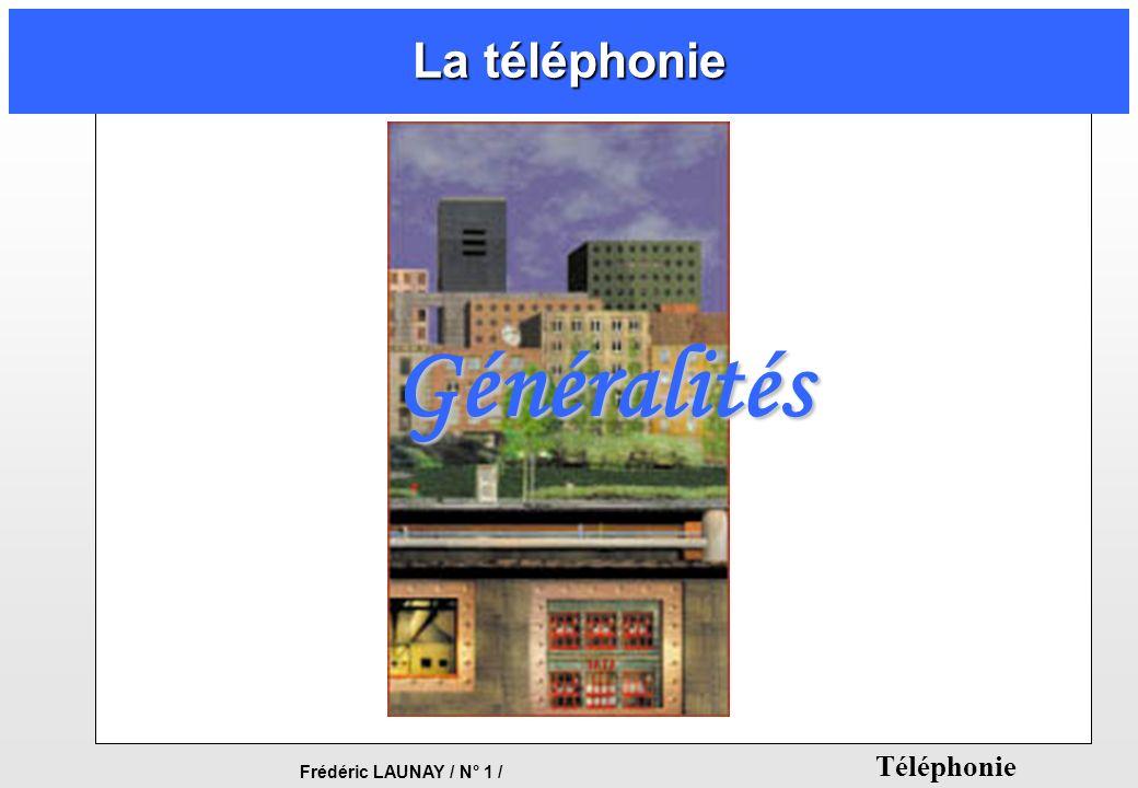 Frédéric LAUNAY / N° 1 / Téléphonie La téléphonie Généralités