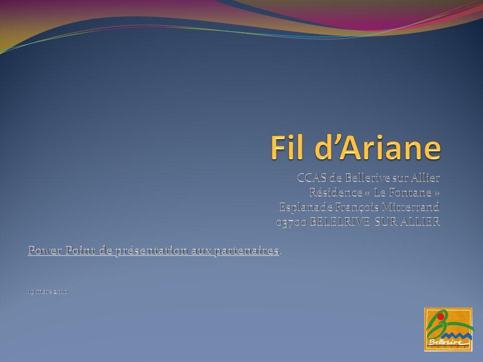 Fil dAriane Attention « Fil dAriane » nest pas un système de télé assistance.