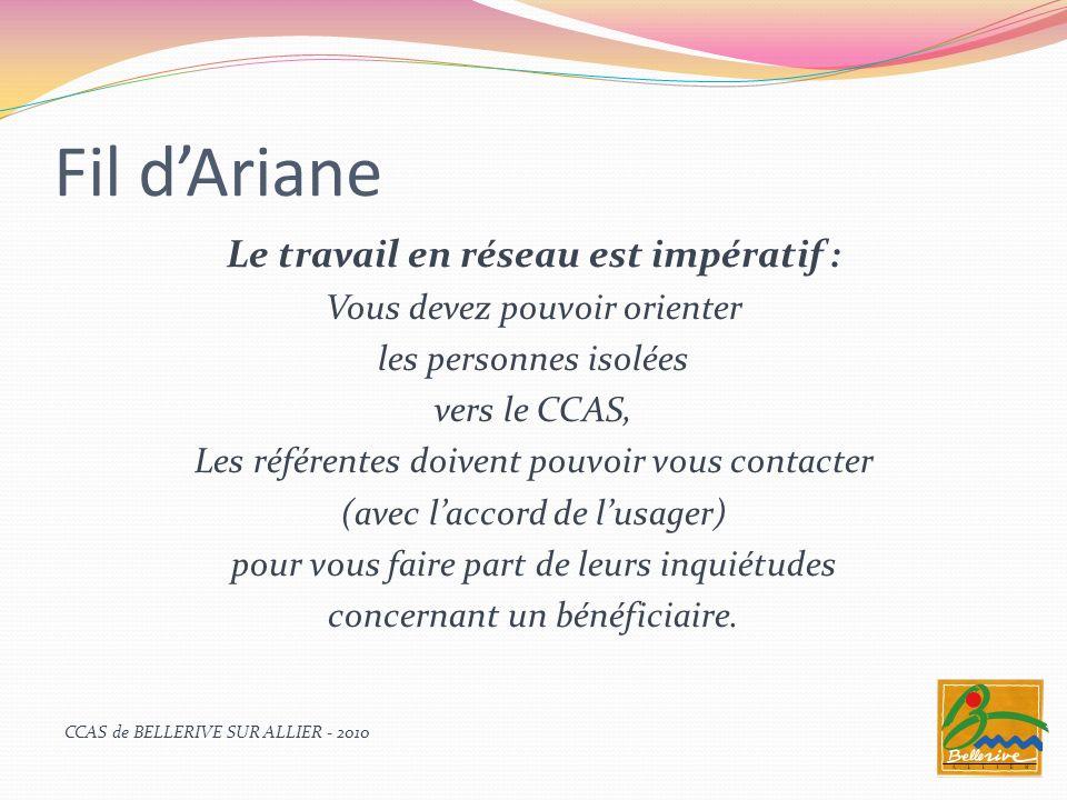 Fil dAriane « Fil dAriane » est un service qui doit fonctionner sans interruption, les périodes de fêtes et de vacances pouvant amplifier les sentiments de solitude et disolement.