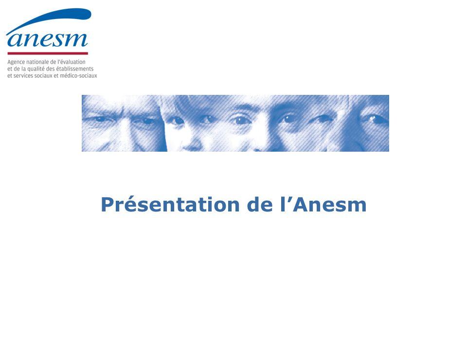 Journées interrégionales 2009 3 Les missions principales de lAnesm Validation (ou élaboration si carence) de : –références ; –procédures ; –recommandations de bonnes pratiques professionnelles.