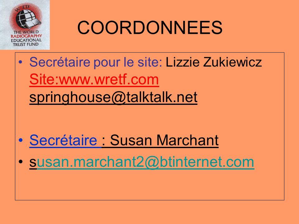COORDONNEES Secrétaire pour le site: Lizzie Zukiewicz Site:www.wretf.com springhouse@talktalk.net Secrétaire : Susan Marchant susan.marchant2@btintern