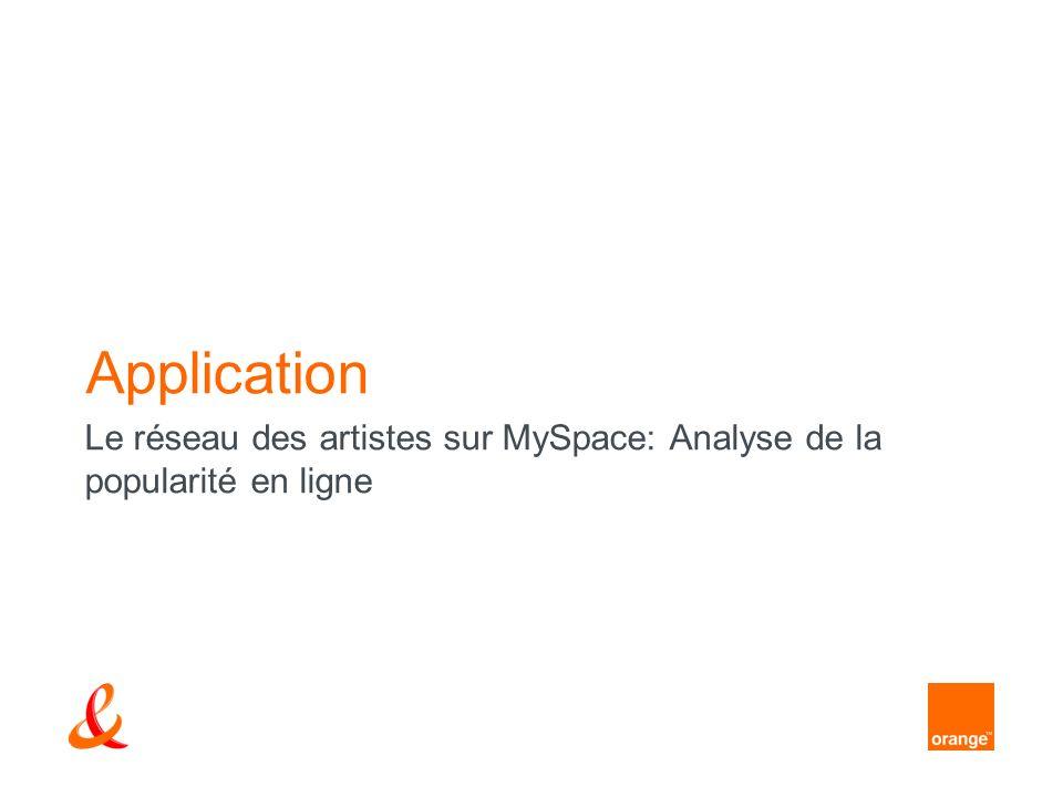 Application Le réseau des artistes sur MySpace: Analyse de la popularité en ligne